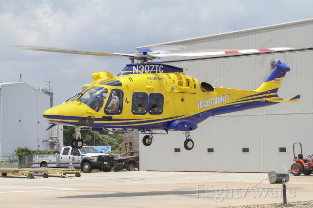 N307TC — - Travis County STARFlight AW169 taking off from their main hanger in Austin, Texas.