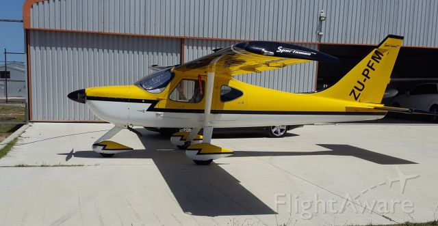 """AMAX Sport 1700 (ZU-PFM) - In memoriam Mike Lomberg, """"handipilot"""" who fatally crashed in Thailand on December 30, 2018 while on a round the world flight, after flying from Switzerland, to Egypt, across Arabia, Northern India and Burma. His own aircraft shown here had been modified as Mike did not have the use of his legs. He had been a SAAF pilot, experimental test pilot, and had dedicated his life, after an accident that had left him paraplegic, to spreading the comradeship of the air, mentoring young pilots and showing the skies have no limit.br /His base was Morningstar Airfield, Cape of Good Hope."""