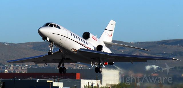 Dassault Falcon 50 (N256A) - Off 16L at 7:25 AM enroute to KLNK (Lincoln, NE).