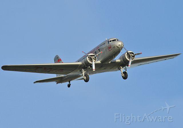 Douglas DC-2 (NC13711) - Flying over the Lake Balboa in Van Nuys, California on November 14, 2010.