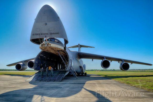"Lockheed C-5 Galaxy (87-0027) - C5M ""The City of San Antonio"" based here at Lackland AFB"