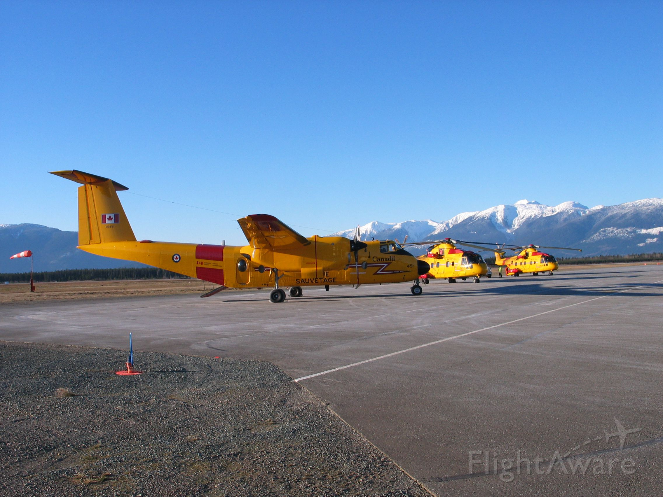 — — - Buffalo and 2 Cormorant from CFB Comox visit Terrace