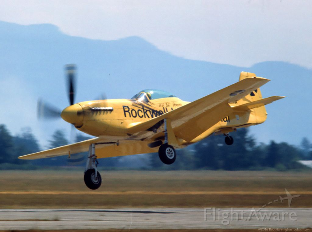 North American P-51 Mustang (N51RH) - The immortal Bob Hoover and Old Yeller - Abbotsford Air Show late 1970s