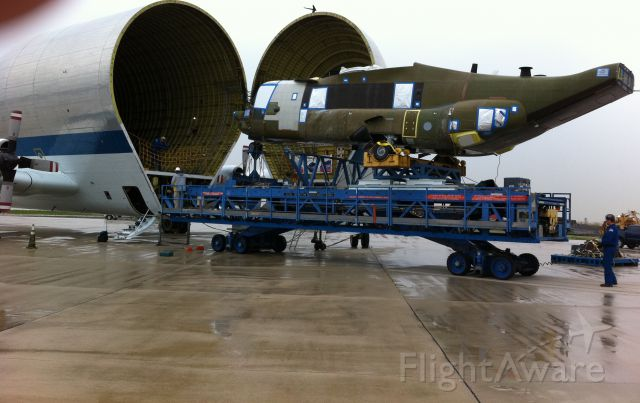 N941NA — - Boeing built V-22 fuselage being loaded into Guppy going to Bell for engines wings and tail.