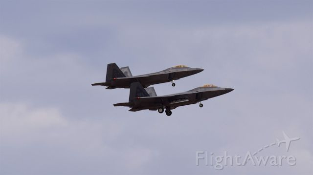 Lockheed F-22 Raptor — - Recovery at Nellis with lead