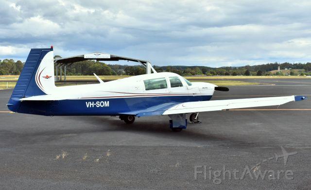 Mooney M-20 (VH-SOM) - Mooney M-20J 201 VH-SOM (msn 24-0884) at Wynyard Airport Tasmania. 4 January 2021.