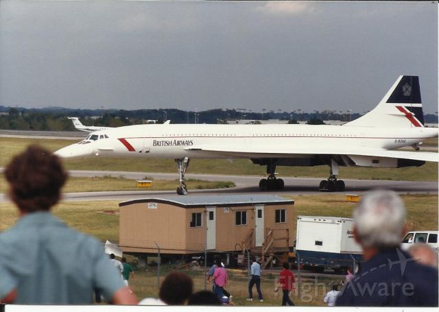 Aerospatiale Concorde — - The only appearance at KBNA.<br />It was a special charter flight.<br />1980's
