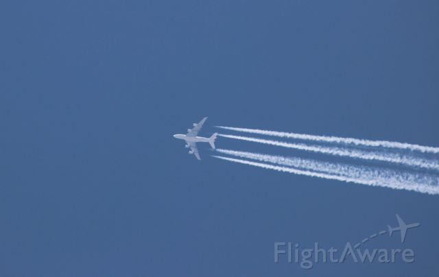 Airbus A380-800 — - Following the August 21, 2017 eclipse this A380 flew over our viewing site near Rexburg ID.