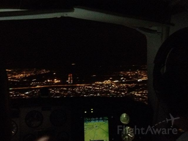 Beechcraft 35 Bonanza (PR-ODT) - Night IFR Landing at SBCG