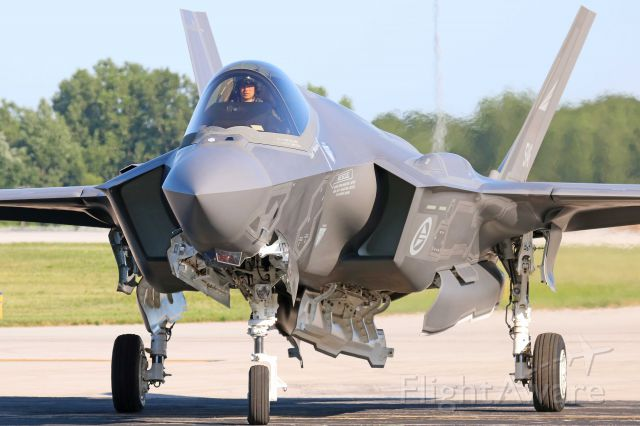 Lockheed F-35C (15-5146) - A Royal Danish Air Force Lockheed Martin F-35A Lightning II from the 56th Operations Group / 62nd Fighter Squadron, Luke AFB, AZ taxiing to park at KTOL for the 2019 Air Show on 12 Jul 2019.