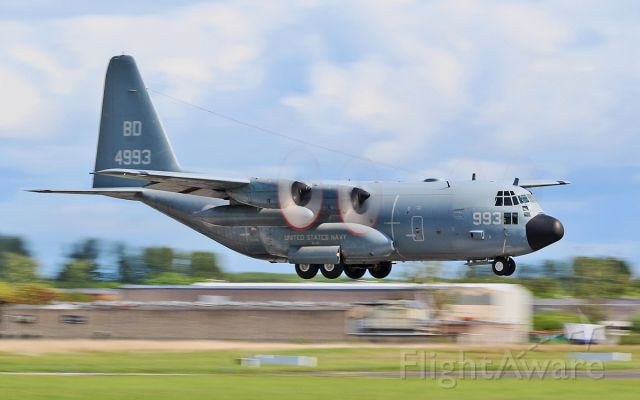 Lockheed C-130 Hercules (16-4993) - usn c-130t 164993 about to land at shannon 22/5/16.