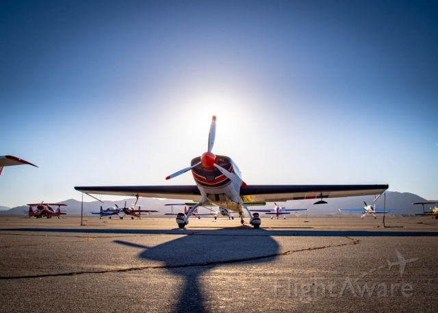 EXTRA EA-300 (N82AU) - Photographed the morning before competition flights at Duel in the Desert in Apple Valley, CA
