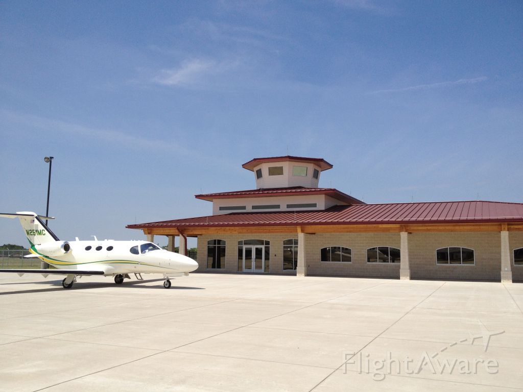 Cessna Citation Mustang (N251MC) - Nice Mustang outside the new terminal building at Terrell Municipal Airport