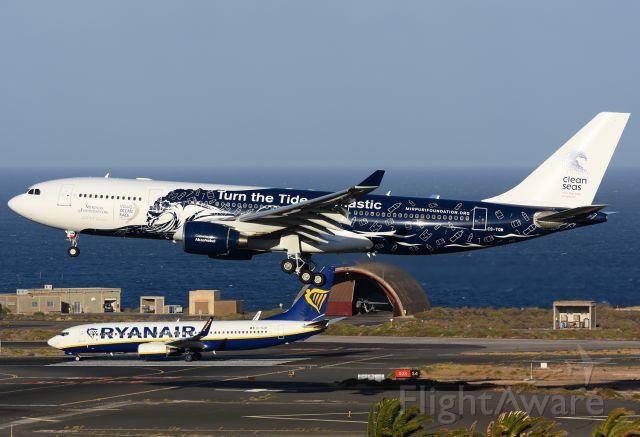 Airbus A330-200 (CS-TQW) - Turn the Tide on Plastic.
