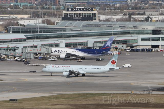 Airbus A321 (C-GIUF) - November 7, 2009 - taken from on top of Air Traffic Controller tower at Toronto Pearson Int'l Airport