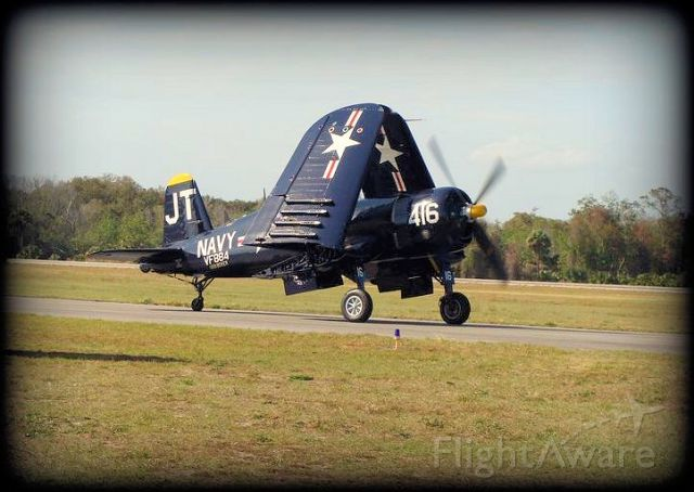 VOUGHT-SIKORSKY V-166 Corsair — - Frontal view of Corsair with wings folded, taxiing...