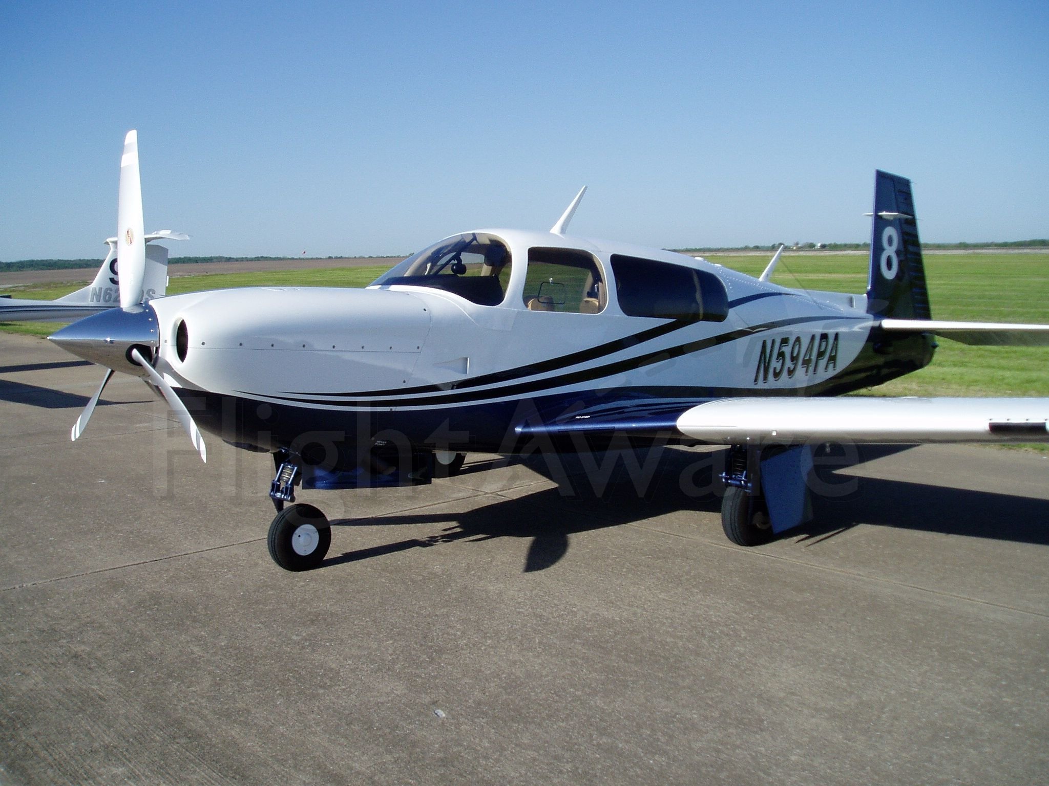 Mooney M-20 Turbo (N594PA) - Participant in the Texoma 100 Air Race at Grayson County (North Texas Regional Airport).