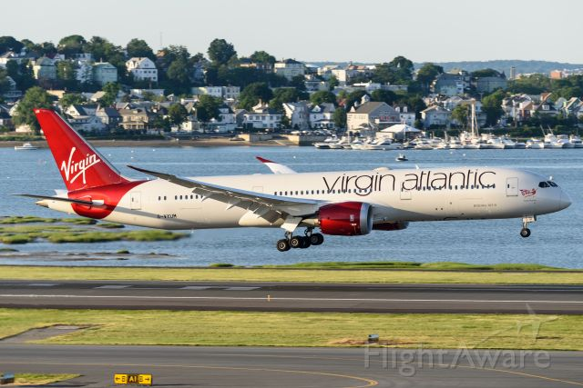 Boeing 787-8 (G-VYUM) - Landing on 15R, taken from Central Parking Garage