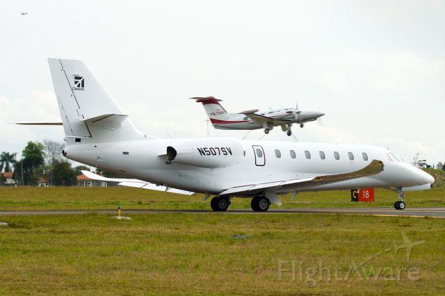 Cessna Citation Sovereign (N507SV) - Brand new Cessna Sovereign at Curitiba, Brazil.