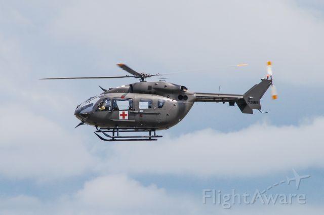 KAWASAKI EC-145 (N71289) - A UH-72 Lakota making a low pass at Donaldson Center.  Taken 8/3/20.
