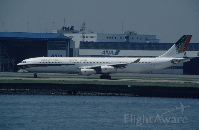Airbus A340-200 (A4O-LA) - Departure at Tokyo-Haneda Intl Airport Rwy15 on 1996/07/12