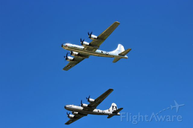 Boeing B-29 Superfortress (N69972) - Fifi & Doc proud in the skies above Oshkosh EAA Air Venture 2017.