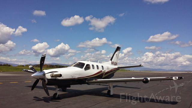 "Socata TBM-850 (N842MA) - This is my aircraft.  I fly it out of Charlottesville, VA under the 135 Certificate of the Meridian Air Group.  <a rel=""nofollow"" href=""http://www.littlehawklogistics.com"">www.littlehawklogistics.com</a>"