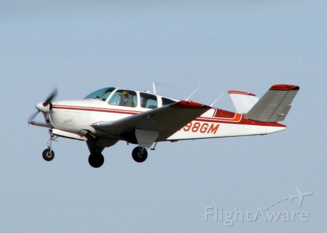 Beechcraft 35 Bonanza (N98GM) - Off of Rwy 32 at Downtown Shreveport.