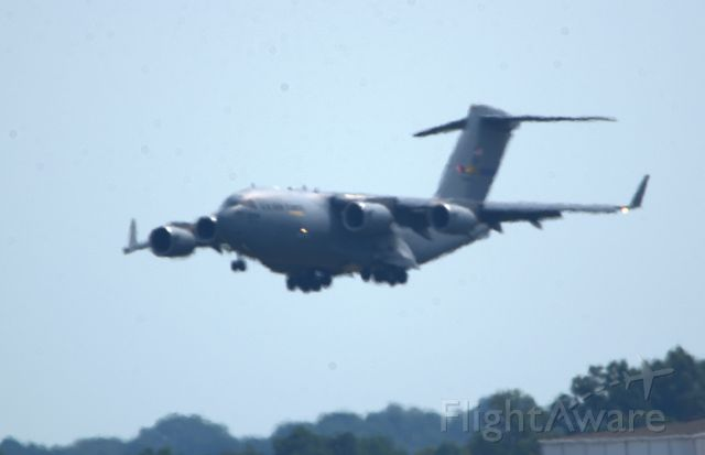 Boeing Globemaster III — - ANG C-17 on approach using Runway 36R. Taken from between Runway 36C and 36L on the opposite end of the runway.