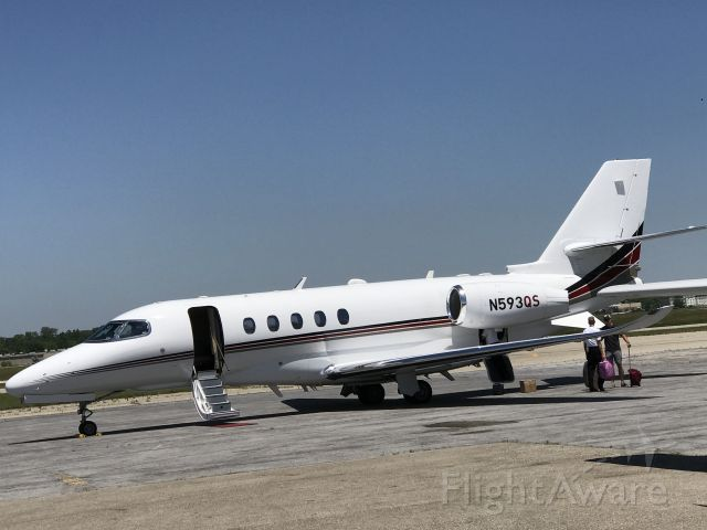 Cessna Citation Latitude (N593QS) - NetJets' new Latitude at JXN from DFW