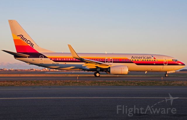 Boeing 737-800 (N917NN) - American /Air Cal special livery - Fresh out of the paint shop and 1st visit to Boston Logan !