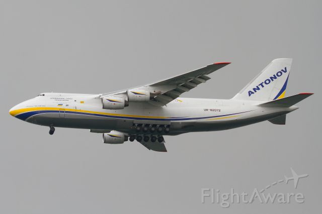 Antonov An-124 Ruslan (UR-82072) - UR-82072 arrives into SIN from JHB at 11:25 as ADB323F. It later departed to BWN with a delay of more than 4 hours. 05 November 2019