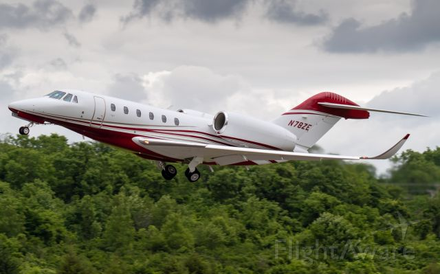 Cessna Citation X (N78ZE) - Chairman 42 departing for Dallas Love Field Airport.