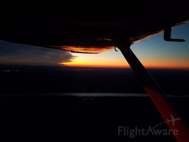 N1904F — - 2020 New Year Day sunset over the Ohio