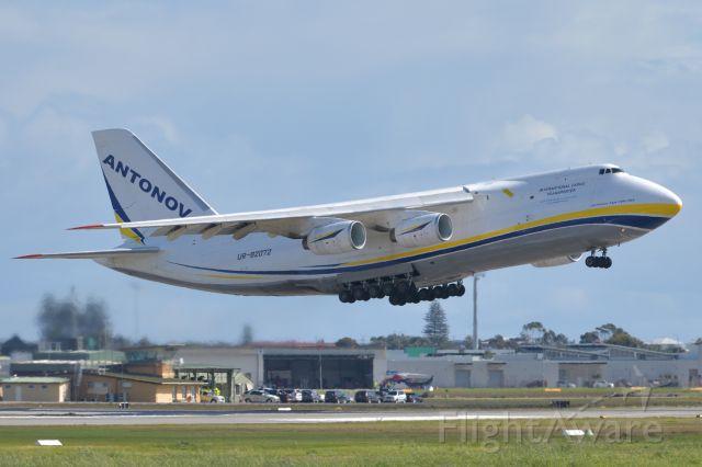 Antonov An-124 Ruslan (UR-82072) - Adelaide, South Australia, August 14, 2020. <br /><br />Flt ADB3470 departs runway 05 bound for Brisbane, and later, Honolulu.