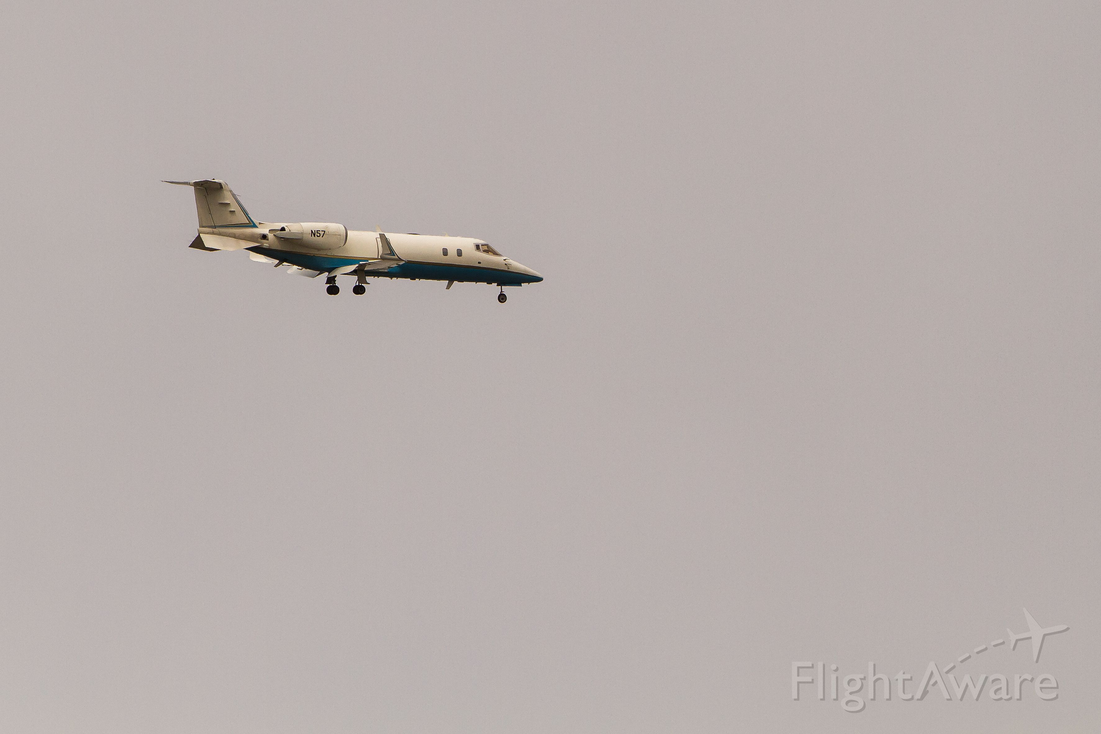 """Learjet 60 (N57) - N57, a LJ-60 assigned to the FAA Flight Inspection Services.  Better known as the callsign """"FlightCheck""""."""