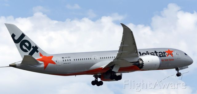 Boeing Dreamliner (Srs.8) (VH-VKH) - Jetstar, B787, departs runway 16 at YMML.