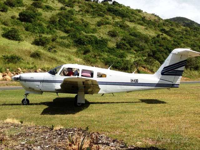 Piper Cherokee Arrow (VH-KBD) - VH-KBD at Keswich Island
