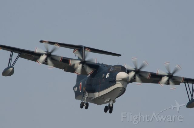SHINMAYWA US-2 (N9907) - Making a right bank on final to RJOI.
