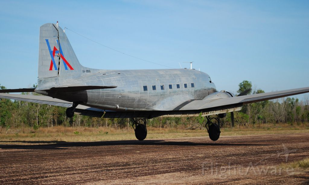 VH-MMA — - Hardy Aviation's C-47 / DC 3 Landing on the privately owned WW2 Coomalie Airstip 2010. It allocated US serial number was 42-23731 and was delivered to USAAF on May 25th 1943.
