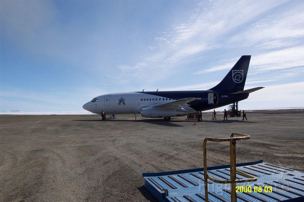 Boeing 737-200 (C-FFAL) - Xstrata Nickel airplane on ground at CTP9 airport in Nunavik