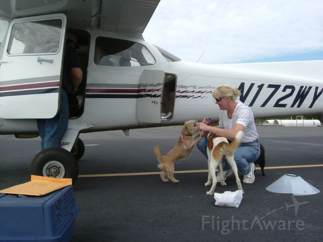 Cessna Skyhawk (N172WY) - Preflight Briefing:  No poo in the plane    Three great little dogs, Jet (black Pomeranian), Rascal (shih-tzu mix)  and Duke (pure mutt)  were saved from death row at a pound in Spruce Pines, NC.   Rascal ended up in a shelter because his owner had a new baby.  Jet was there because his owner just didnt want him anymore and Duke was brought in because his owners house caught on fire.    Loving homes were waiting in Rhode Island.   All of these dogs were so loveable and so happy to have some human kindness.    We wish them many years of happiness in their new homes.