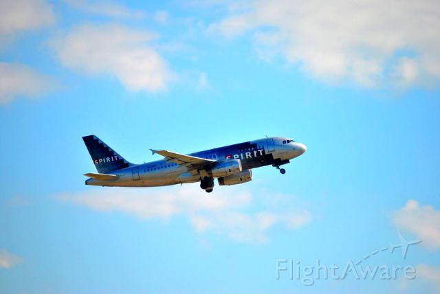 Airbus A319 (N528NK) - Departing KIAH on 14L
