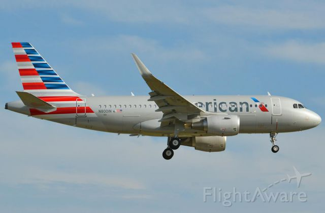 Airbus A319 (N8001N) - The New American A319-112