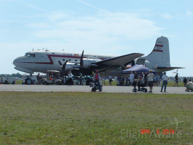 Douglas C-54 Skymaster (N500EJ) - Freedom Flight Douglas C54-R5D S/N 27370 Sun n Fun 2014