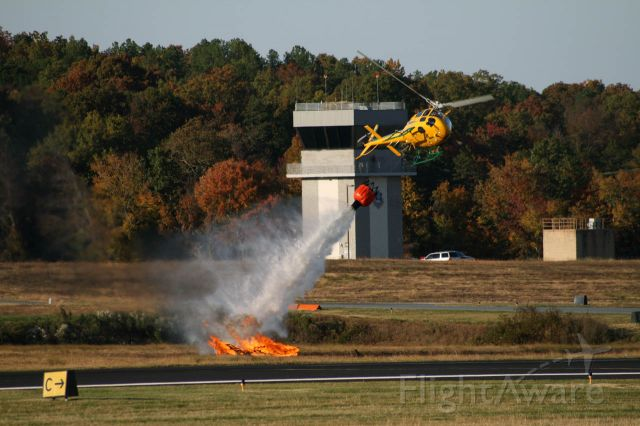 N370NC — - NC Forest Service Eurocopter AS 350 Ecureuil dropping water on a pile of burning wood at the 2008 airshow, Stanly County Airport.