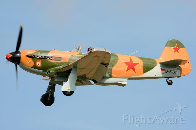 YAKOVLEV Yak-9 (D-FIST) - OTT19, Allison V-1710 12-Cylinder-V-Motor, 1.400 hp
