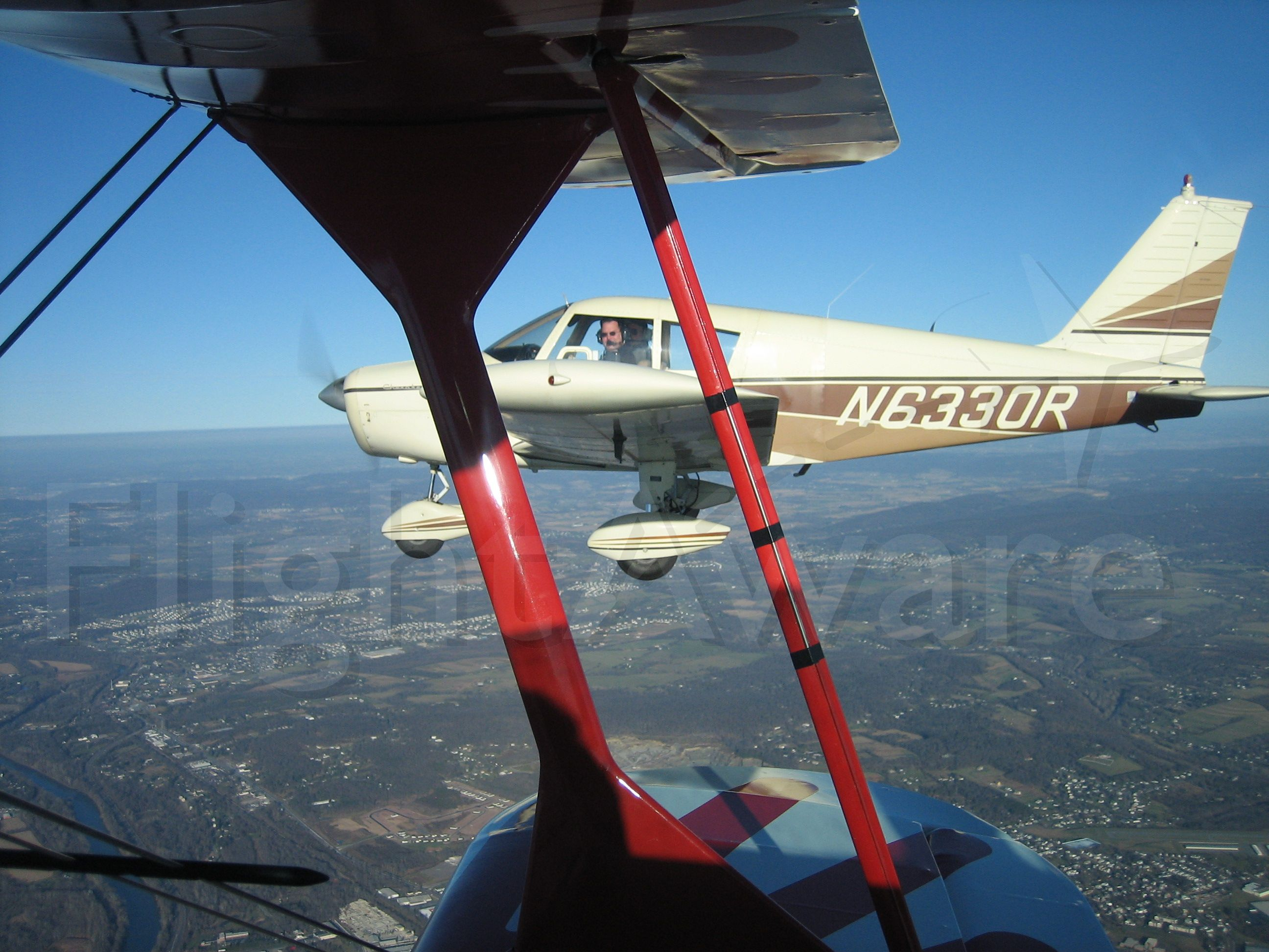 Piper Cherokee (N6330R) - Up Close and Personal (2)  Formation with Christian Eagle.