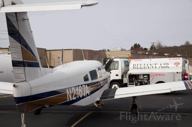 Piper Saratoga (N2167A) - At Reliant Air - cheapest fuel at Danbury (KDXR) airport!