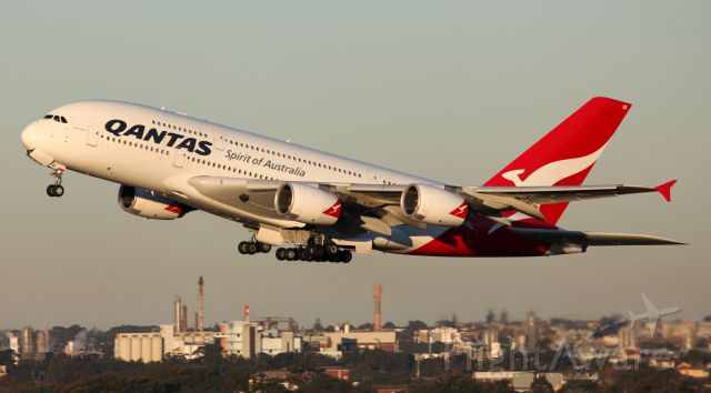 Airbus A380-800 (VH-OQK) - Late Afternoon Departure From 34L